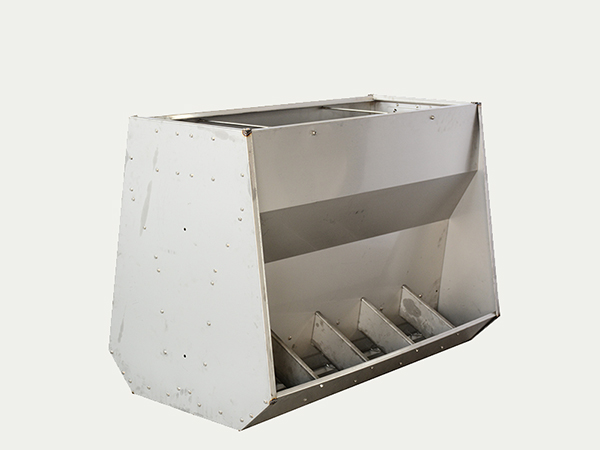 Stainless steel feed trough